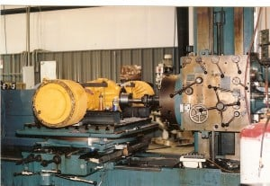 Conventional Machining - Repair Excavator Trunnion OD
